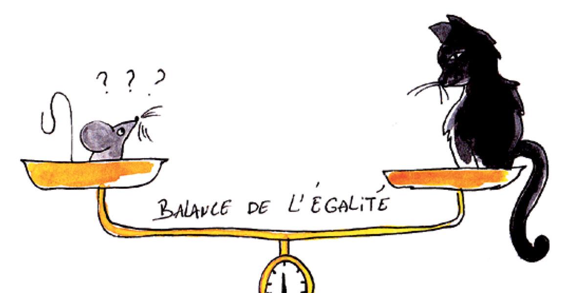Balance de l'égalité